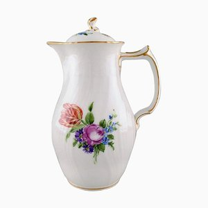 Royal Copenhagen Light Saxon Flower Chocolate Jug in Hand-Painted Porcelain