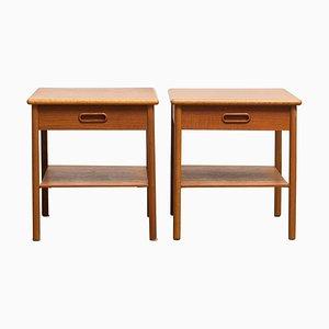 Teak Bedside Tables, Sweden, 1950s, Set of 2