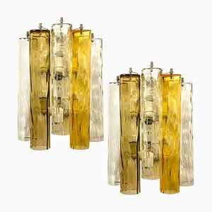 Large Murano Glass Wall Sconces form Barovier & Toso, 1960s, Set of 2