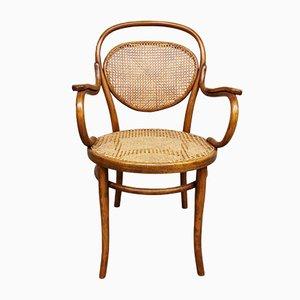 Antiker Armlehnstuhl aus Bugholz von Josef Hoffmann für Thonet