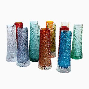 Textured Chimney Bank Vases Set by Geoffrey Baxter, 1960s