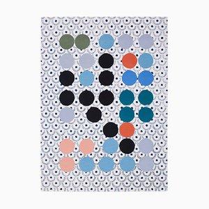 Alfombra Dadaism abstracta inspirada de Sophie Taeuber Arp