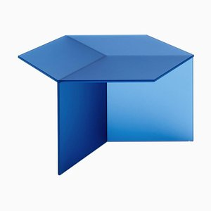 Satin Glass Isom Square Coffee Table by Sebastian Scherer