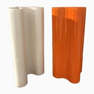 Vasen von Franco Bettonica für Gabbianelli, 1970er, 2er Set