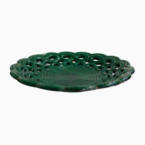 Large Mid-Century Openwork Bowl by Letalle for Saint Clément