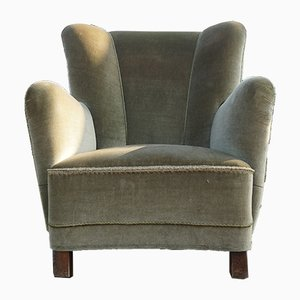 Vintage Wing Back Easy Chair in the Style of Flemming Lassen