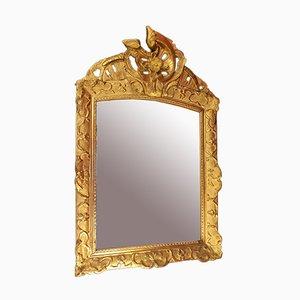 Specchio dorato in legno intagliato, XVIII secolo