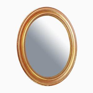 Vergoldeter Spiegel mit Holzrahmen im Epochenstil, 19. Jh