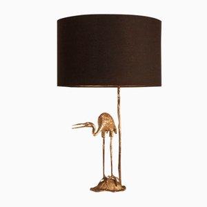 Lámpara de mesa Crane plateada de Valenti, años 70