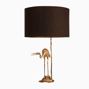 Silver-Plated Crane Table Lamp from Valenti, 1970s