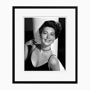 Exquisite Ava Archival Pigment Print Framed in Black by Everett Collection