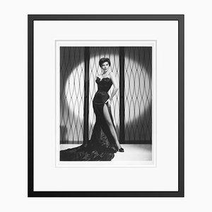 Uber Glamorous Ava Gardner Archival Pigment Print Framed in Black by Everett Collection