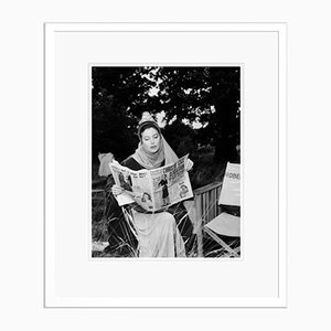 Ava Gardner in Costume on Set Archival Pigment Print Framed in White by Everett Collection