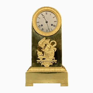 Empire Gilded Bronze and Gilded Gilt Clock