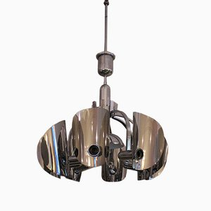 Vintage Italian Chromed Ceiling Light