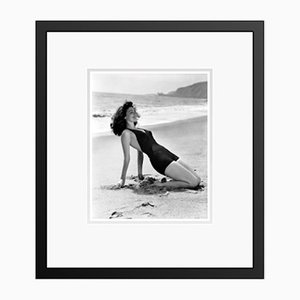 Ava Gardner Soaking Up the Sun Archival Pigment Print Framed in Black by Everett Collection