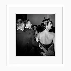 Celebrity Couple at Black Tie Event Archival Pigment Print Framed in White by Frank Worth