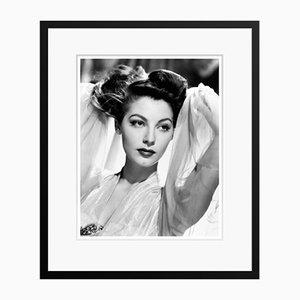Archivierter Ava Gardner Pigmentdruck-Druck in Schwarzem