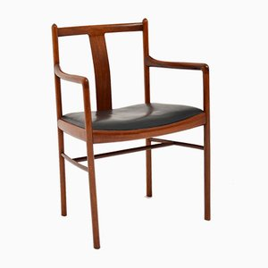 Vintage Danish Rosewood & Leather Desk Armchair, 1960s
