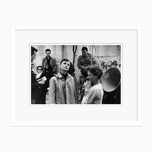 Audrey Hepburn Funny Face Silver Gelatin Resin Print Framed in White by Bert Hardy