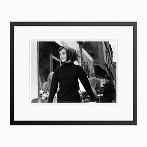 Audrey Hepburn Funny Face Silver Gelatin Resin Print Framed in Black by Bert Hardy
