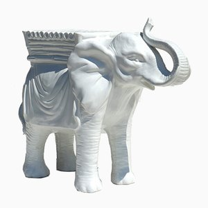 White Ceramic Elephant, 1960s
