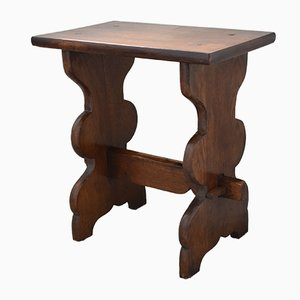 Small Antique Peg Jointed Oak Side Table, 1880s