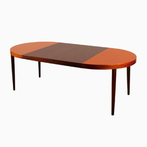 Vintage Danish Round Extendable Rosewood Dining Table, 1960s