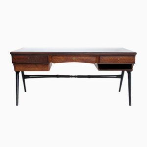 Italian Lacquered Wood Writing Desk, 1950s