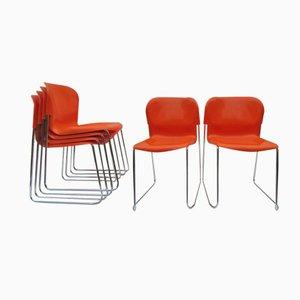 Chaises Swing SM 400 en Plastique et en Chrome par Gerd Lange pour Drabert, Set de 6