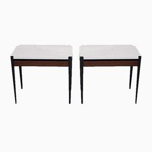 Tavolini P68 di Osvaldo Borsani per Tecno, anni '60, set di 2