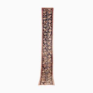 Alfombra de pasillo turca Strain Runner larga y estrecha de lana hecha a mano, años 70