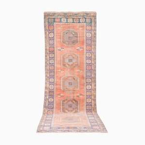 Turkish Ladik Runner Rug with Soft Colors, 1970s