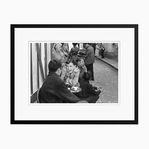 Happy Hepburn Silver Gelatin Resin Print Framed in Black by Bert Hardy