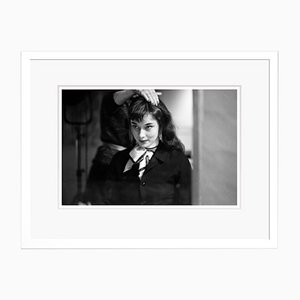 Audrey Gets Her Hair Done Archival Pigment Print Framed in White by Phillip Harrington