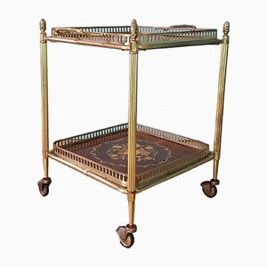 French Brass Drinks Trolley, 1960s