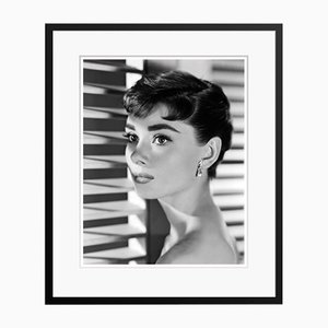 Audrey Hepburn Portrait Archival Pigment Print Framed in Black by Alamy Archives