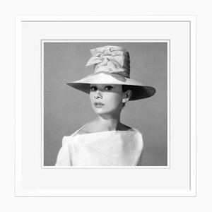 Audrey Hepburn Funny Face Archival Pigment Print Framed in White by Cineclassico