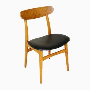 Teak & Beech Chairs, 1960s, Set of 4