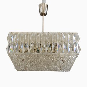 Textured Glass Chandeliers by J. T. Kalmar for Kalmar, Austria, 1950s, Set of 2