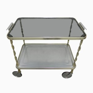 Vintage Serving Trolley with Castor Wheels, 1950s