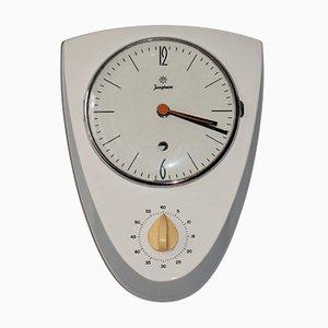 Horloge de Cuisine en Céramique avec Minuteur de Junghans, 1950s