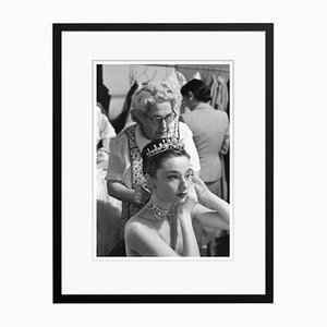 Audrey Hepburn Princess Audrey Archival Pigment Print Framed in Black by Phillip Harrington
