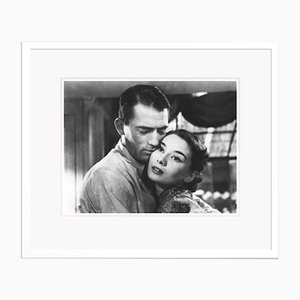 Audrey Hepburn Roman Holiday Archival Pigment Print Framed in White by Alamy Archives