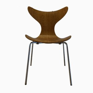 Model 3208 Seagull Dining Chair by Arne Jacobsen for Fritz Hansen, 1973