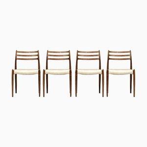 Chaises de Salon No. 78 en Palissandre par Niels Otto Møller pour JL Møllers, 1960s, Set de 4