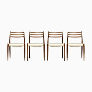 Rosewood No. 78 Dining Chairs by Niels Otto Møller for J.L. Møllers, 1960s, Set of 4
