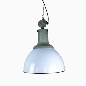 Vintage Light Blue Enamel Industrial Pendant Light from ELKO, 1960s