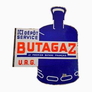 Insegna Butagazma vintage smaltata