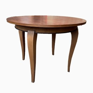 Runder Art Deco Tisch, 1920er